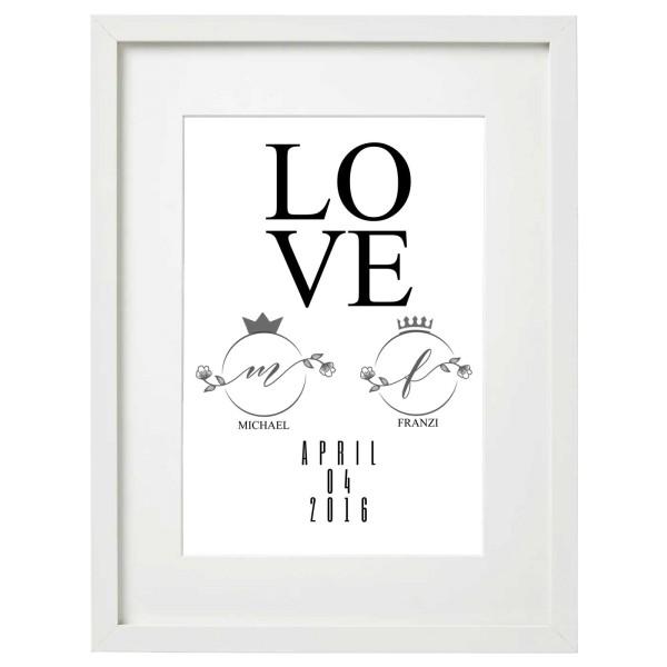 LOVE Kunstdruck